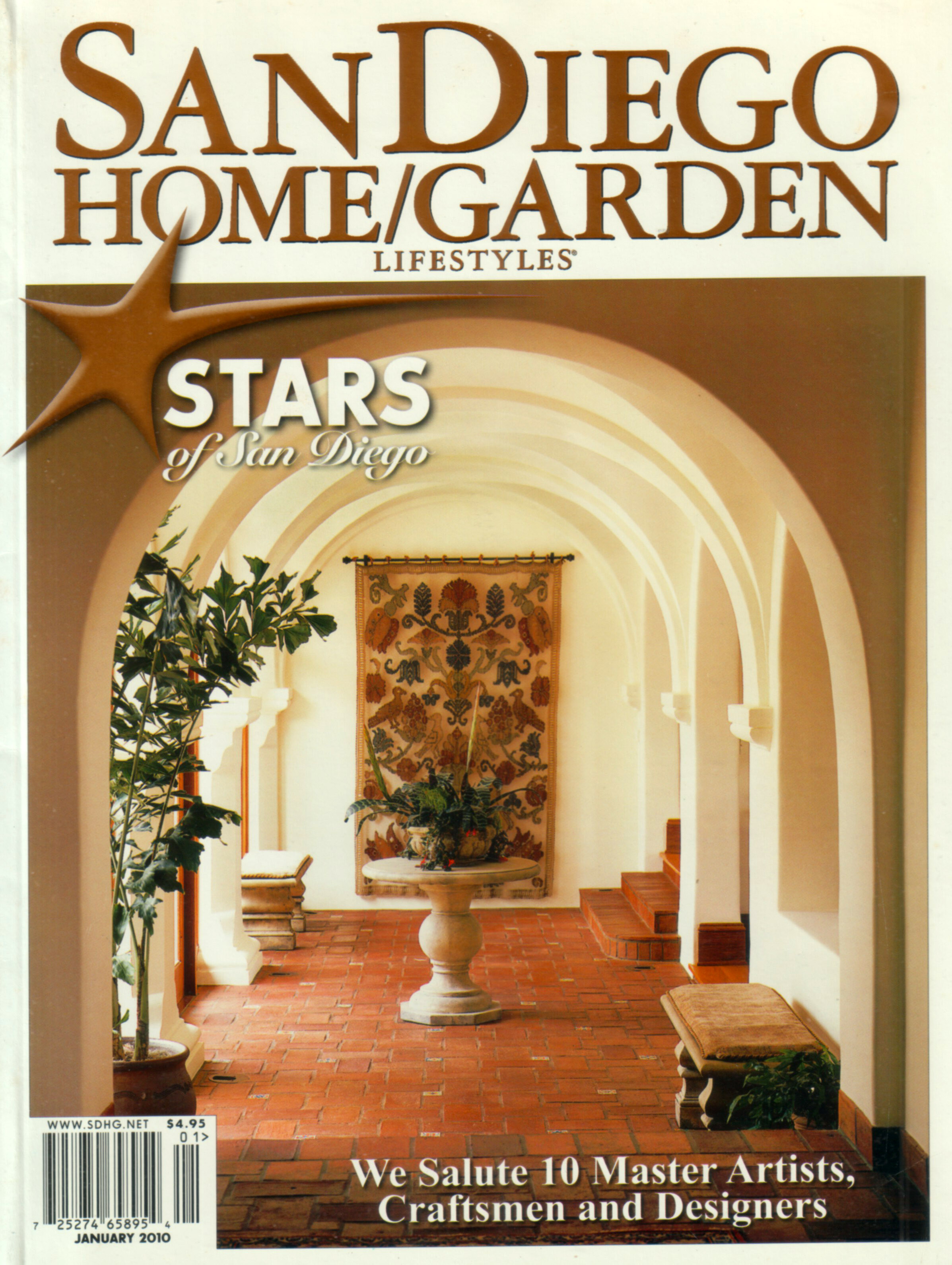 Gentil Featured In San Diego Home And Garden Magazine